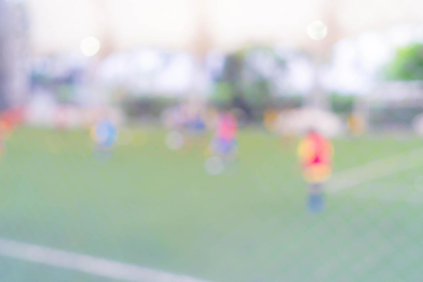 abstract wazig voetbalveld foto