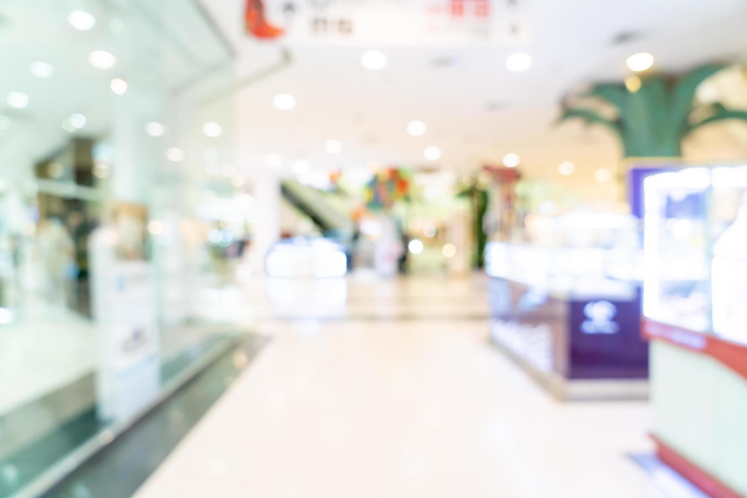 abstracte vervaging winkel en winkel in winkelcentrum voor achtergrond foto