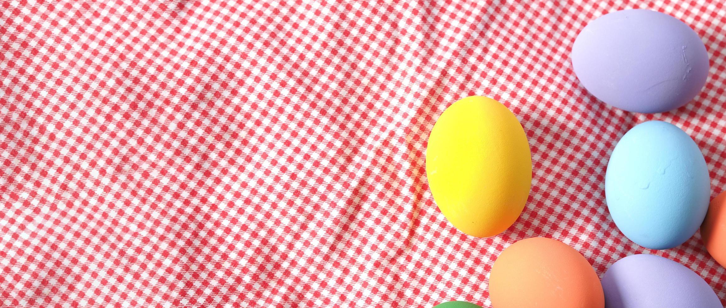 paaseieren of kleur ei. veelkleurig van paaseieren foto