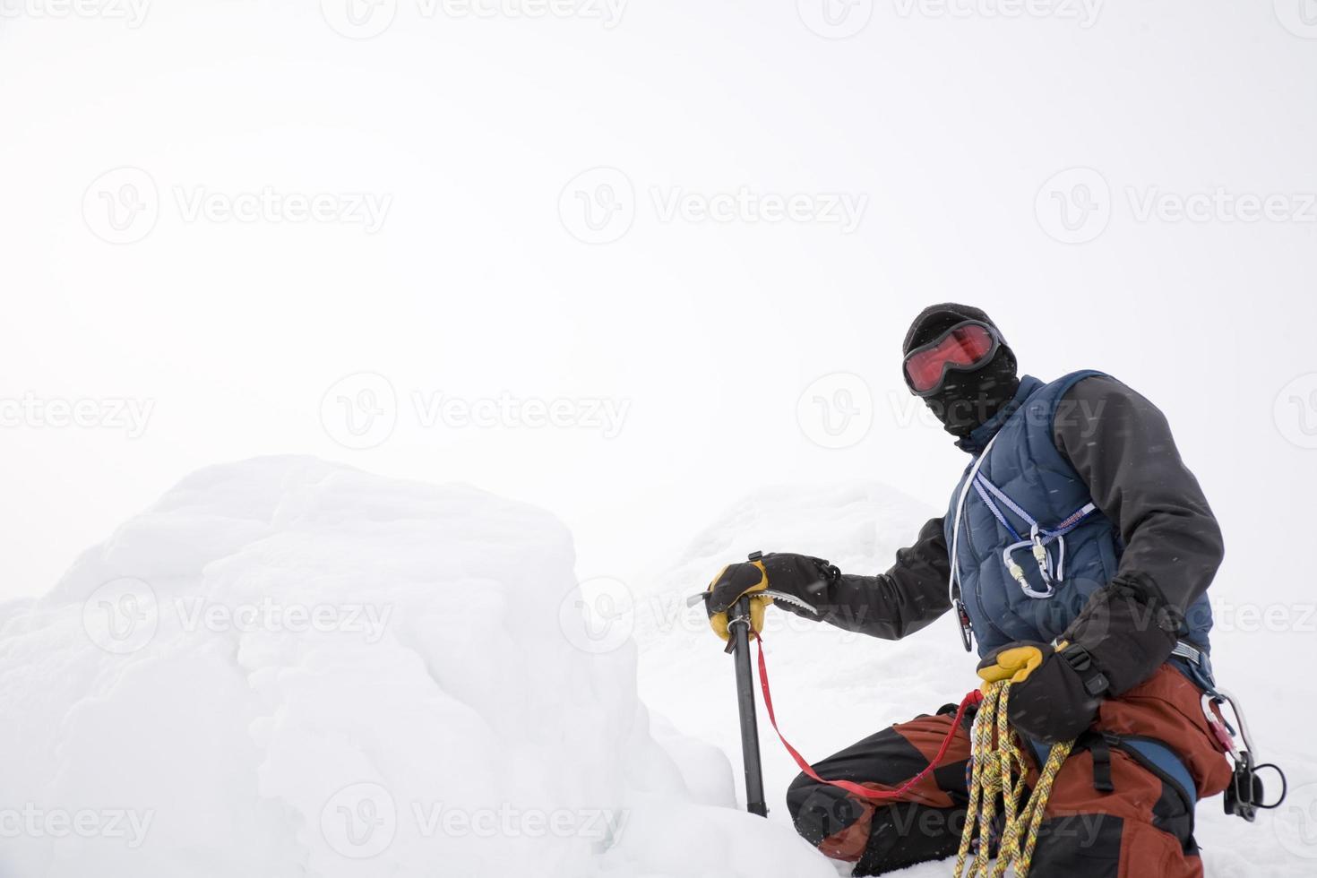 bergbeklimmer foto