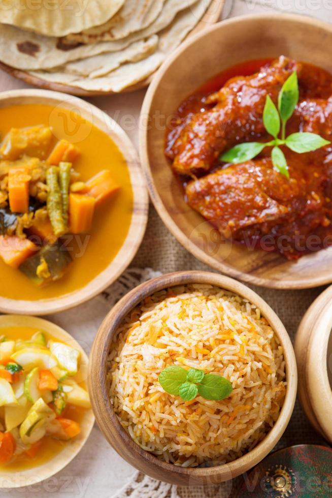 biryani of pilaf rijst foto