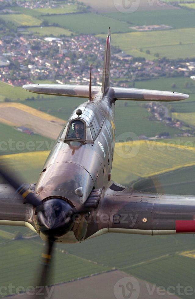 Battle of Britain Memorial Flight BBMF Spifire Orkaanvluchtantenne foto