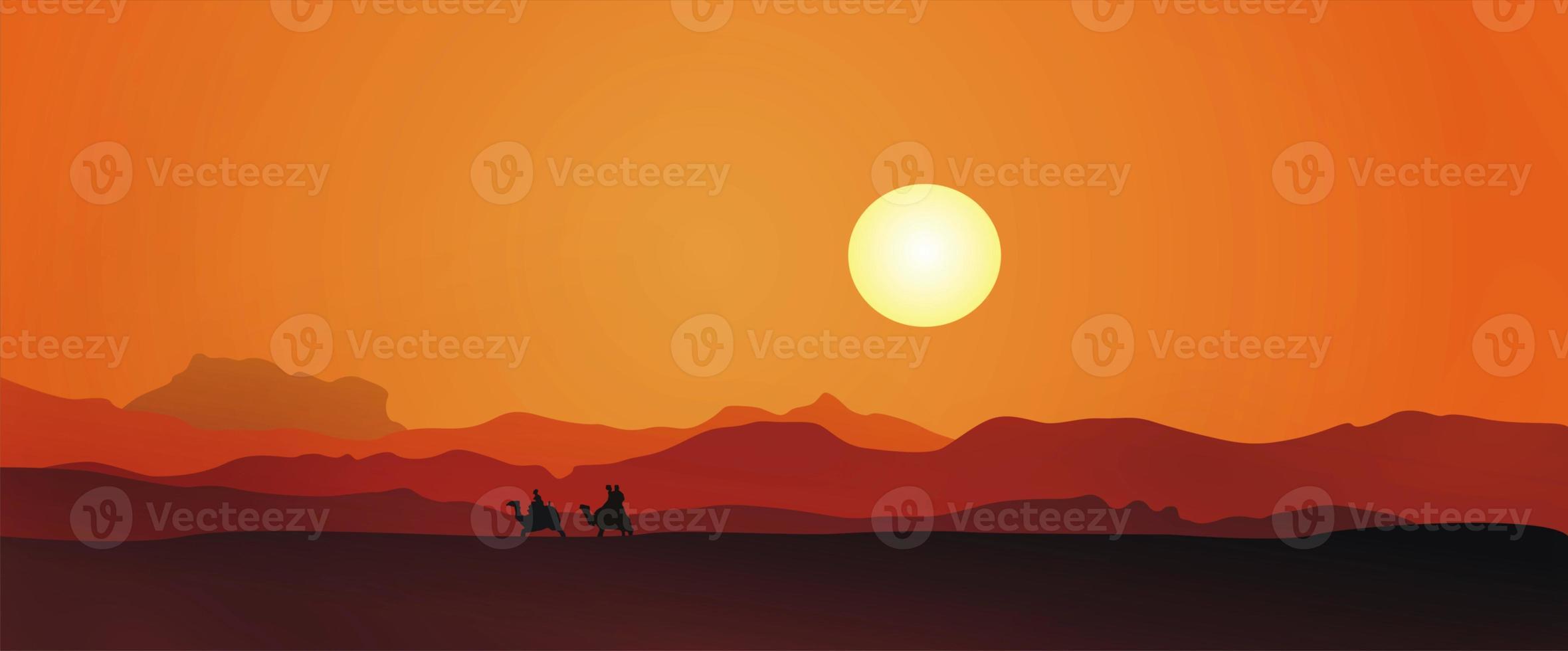 Egypte zonsondergang foto