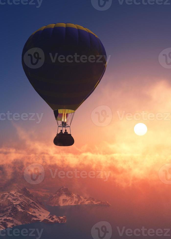 ballon bij zonsondergang foto