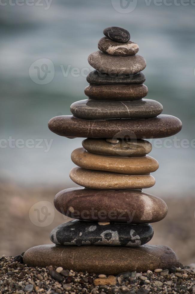 stenen strand foto
