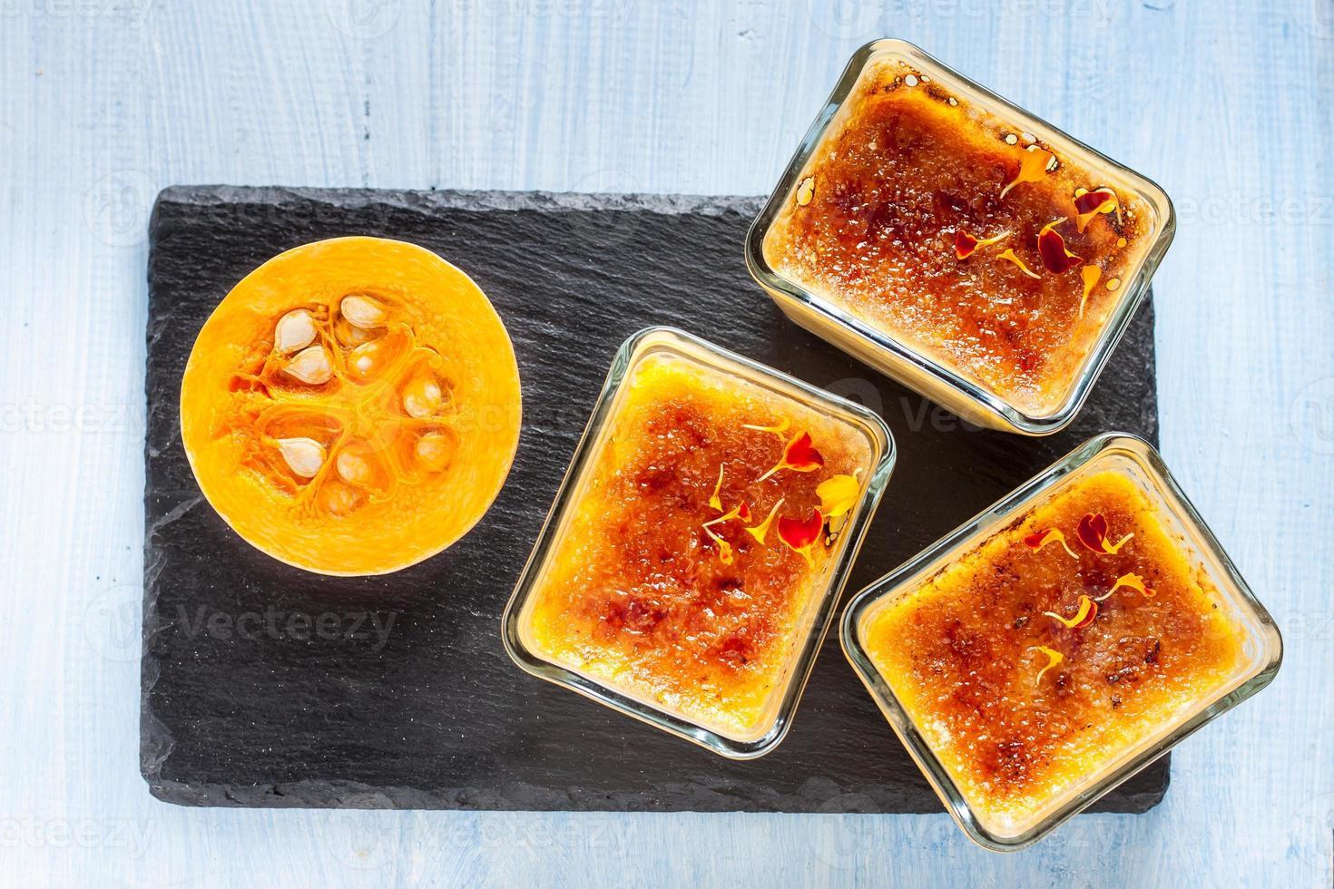 pompoen crème brulee foto