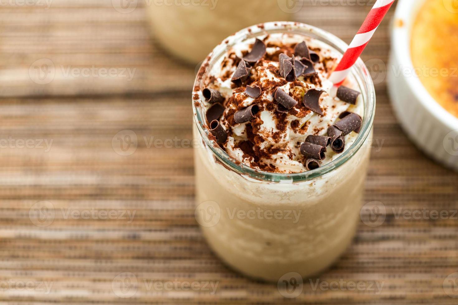 cafe crème brulee koud drankje foto