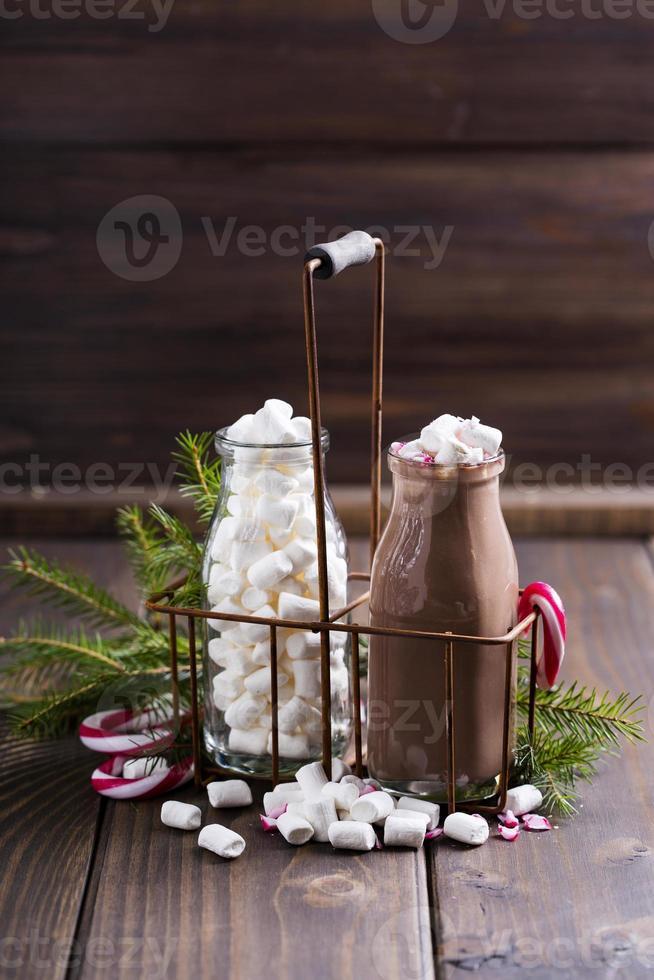 marshmallows en cacao foto