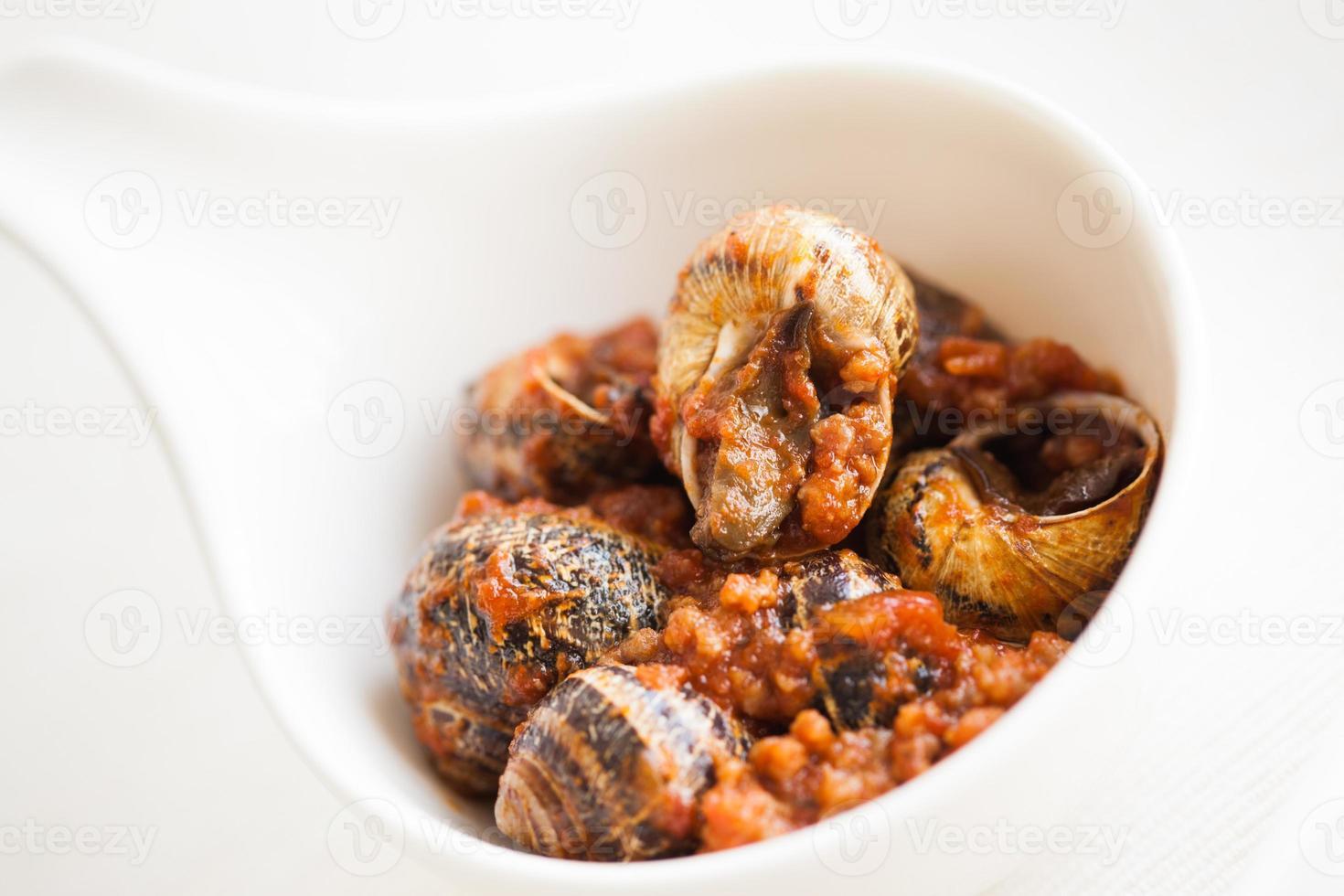 gekookte slakken foto
