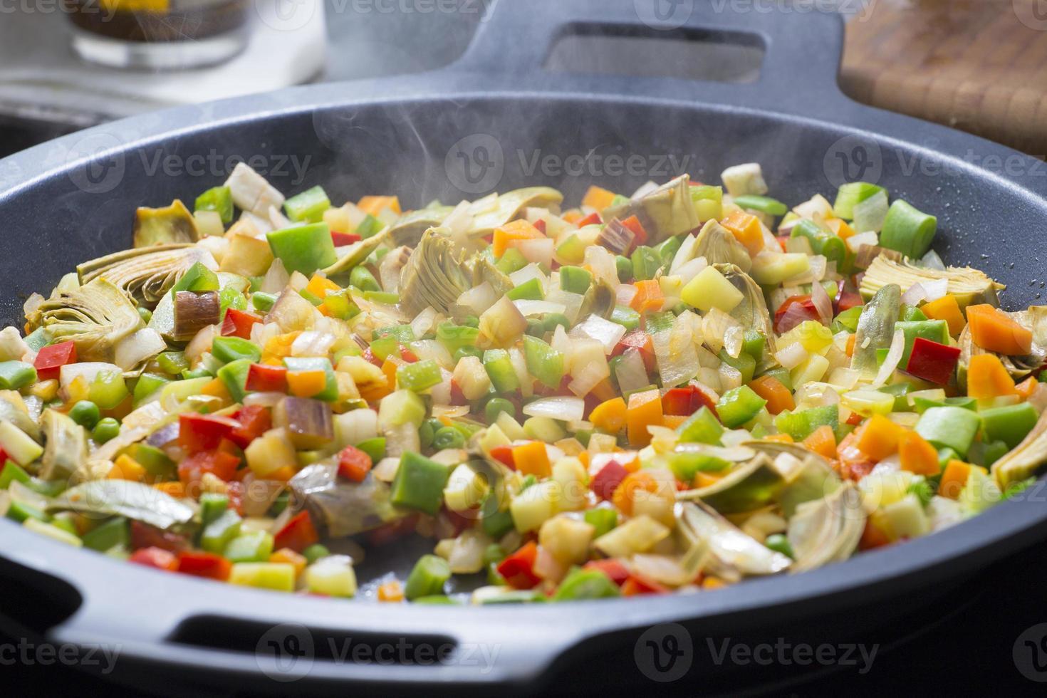 mediterrane groenten koken foto