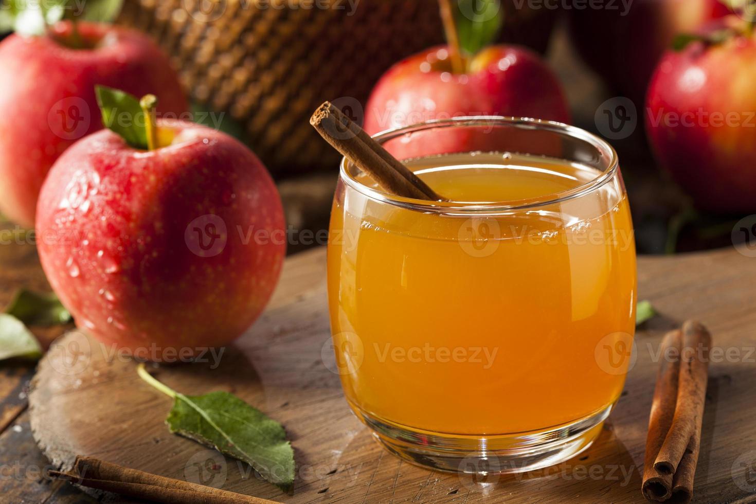 biologische appelcider met kaneel foto
