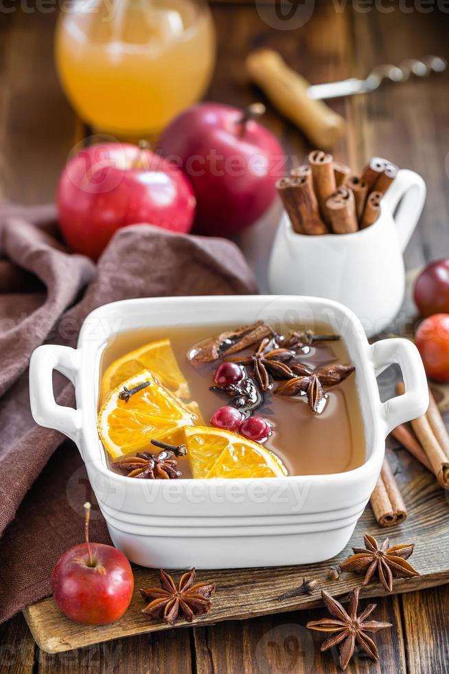 warme cider foto