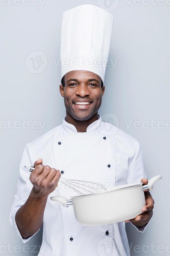 chef aan het werk. foto