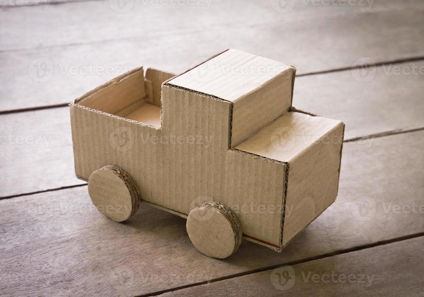 miniatuur vrachtwagen foto