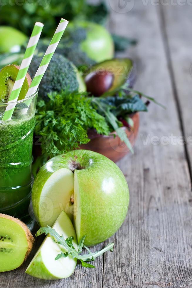groene smoothie achtergrond foto