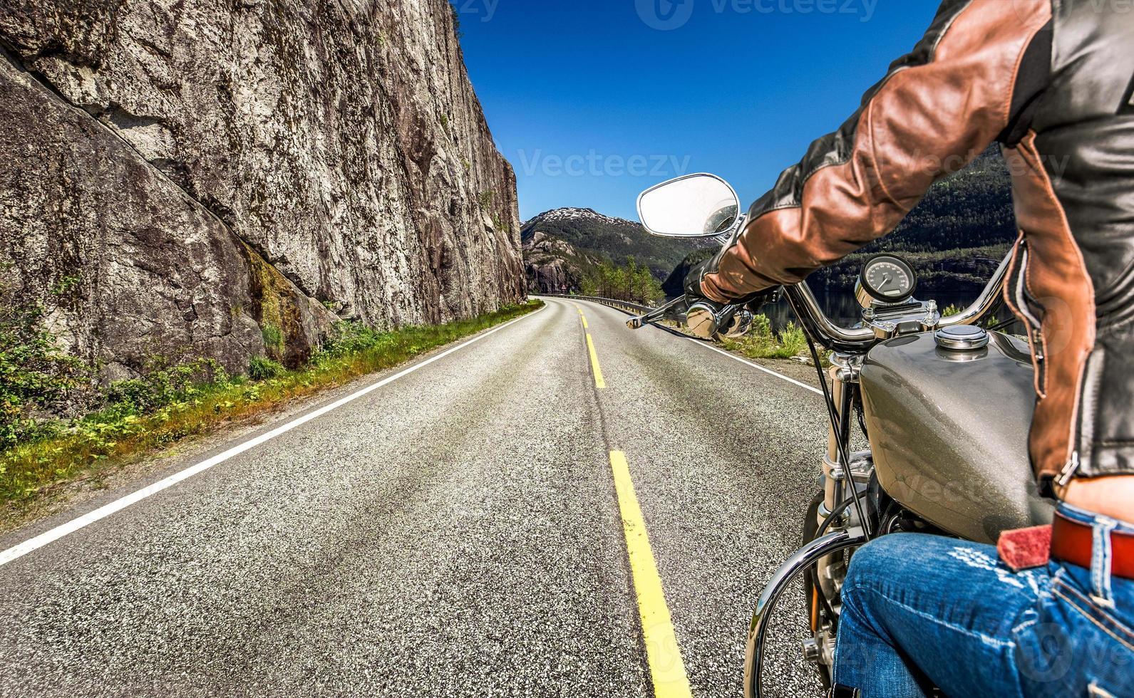 biker meisje first-person view foto