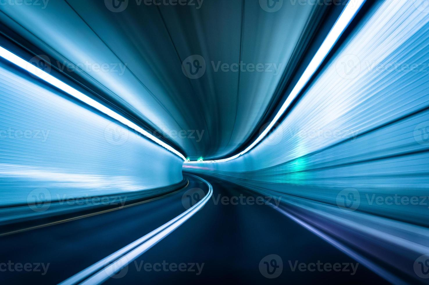 lange blootstelling genomen in de Fort Mchenry-tunnel, Baltimore, Maryl foto