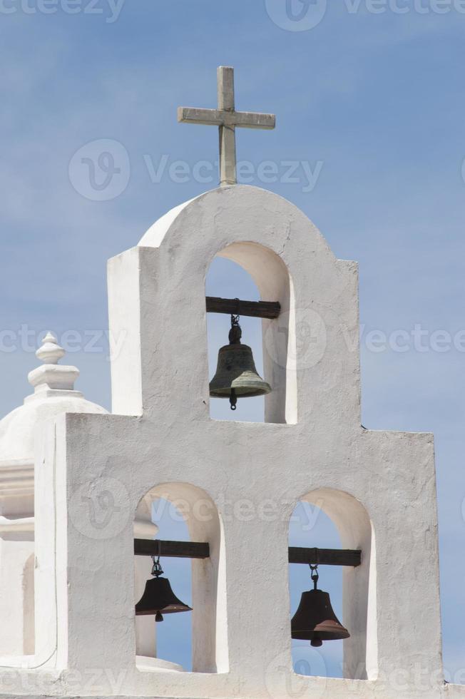 drie klokken bij de missie van San Xavier del Bac foto