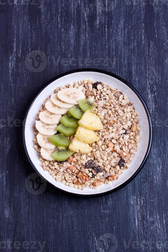 muesli met fruit foto