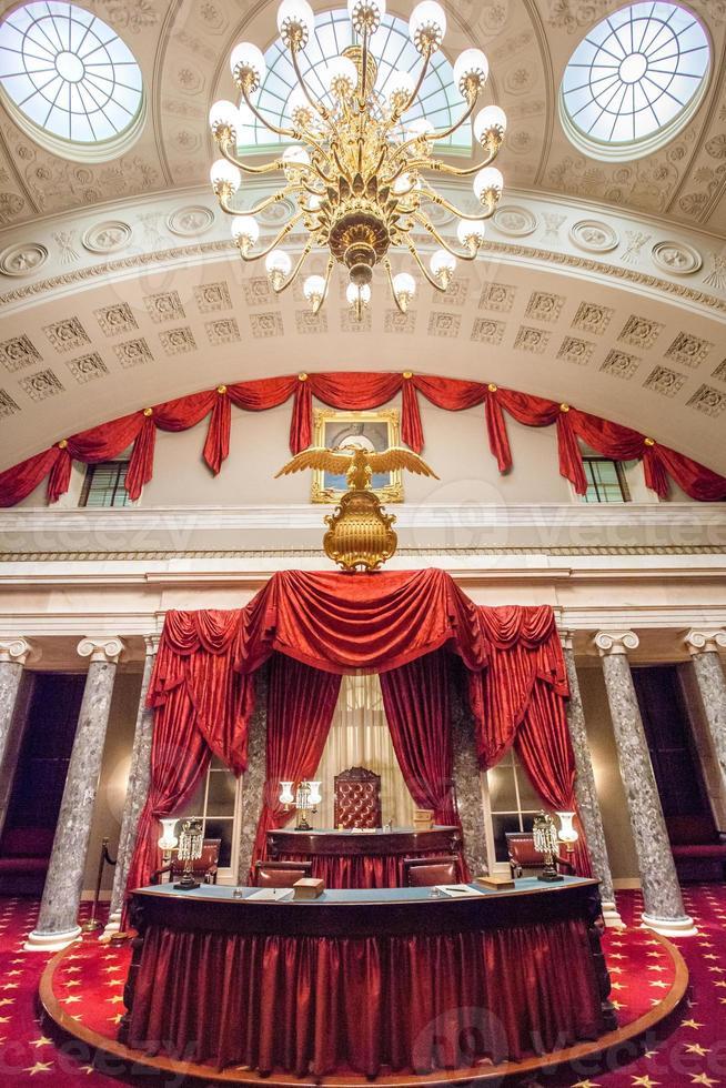 oude senaatskamer in de Amerikaanse hoofdstad foto