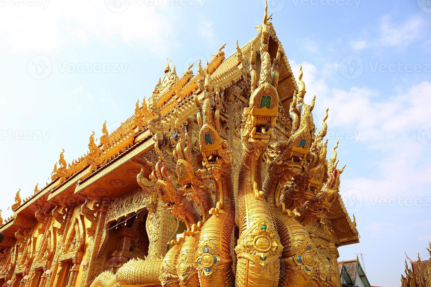 de zeven hoofden grote slang, nan, thailand foto
