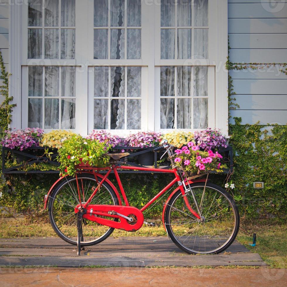 rode vintage fiets foto