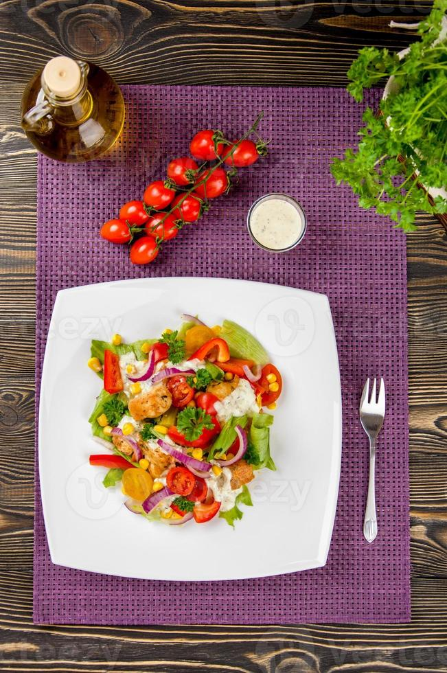 Kip Gyros Salade foto