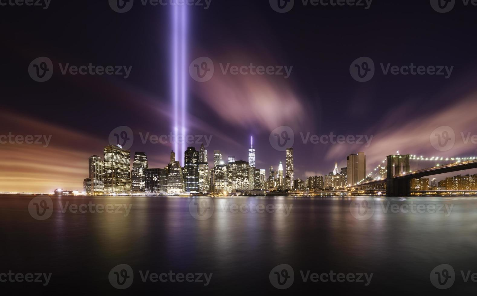 tribute lights, manhattan new york foto