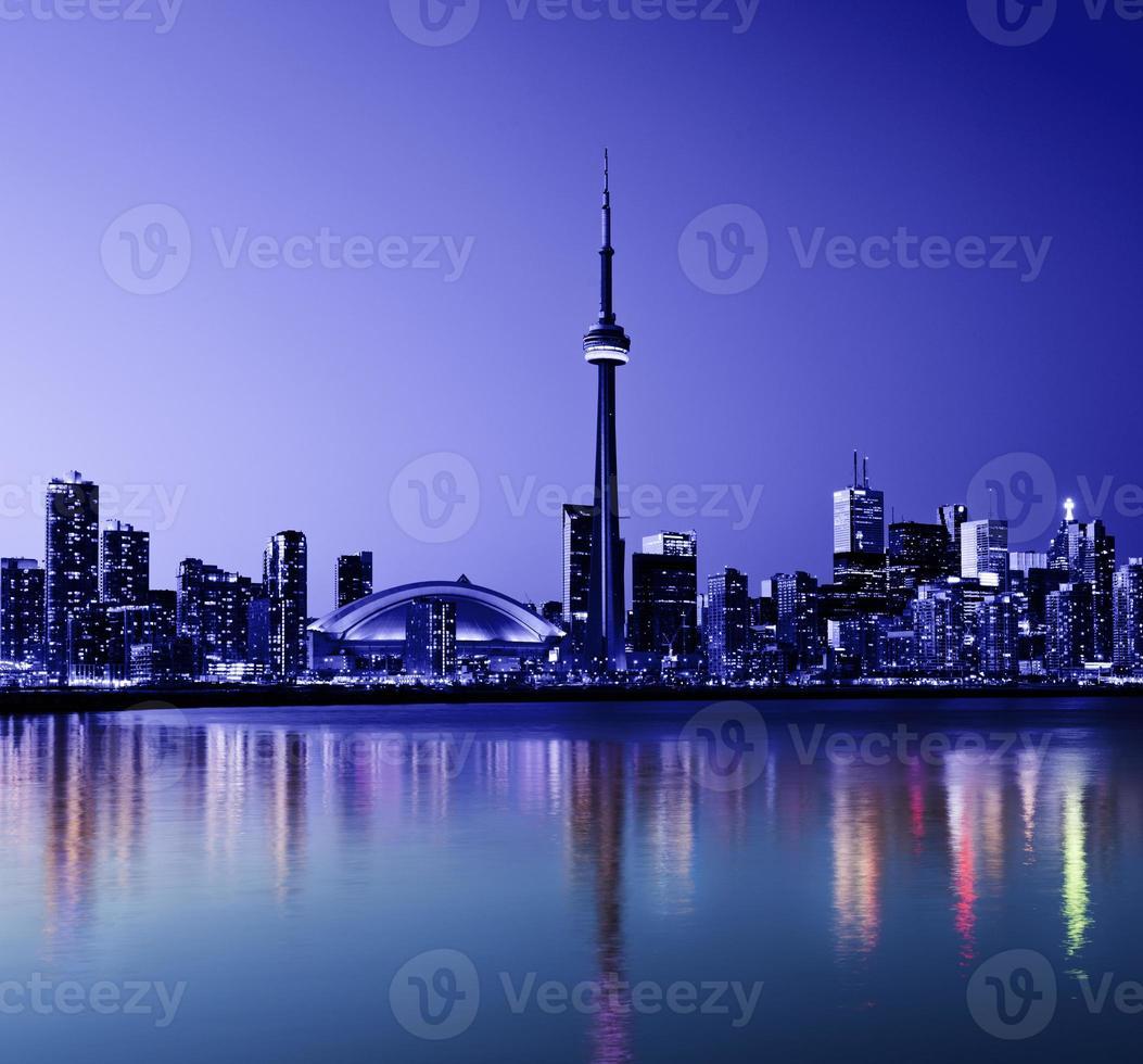 de skyline van de stad van toronto in canada foto
