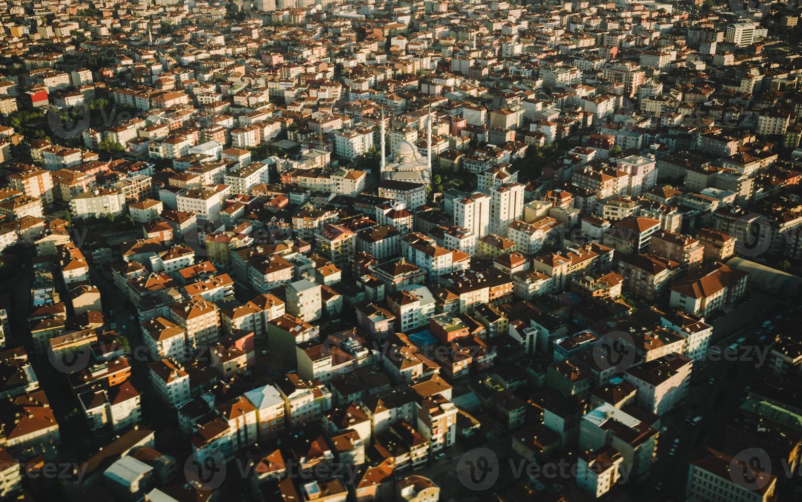 istanbul huis met luchtfoto vliegtuigen foto