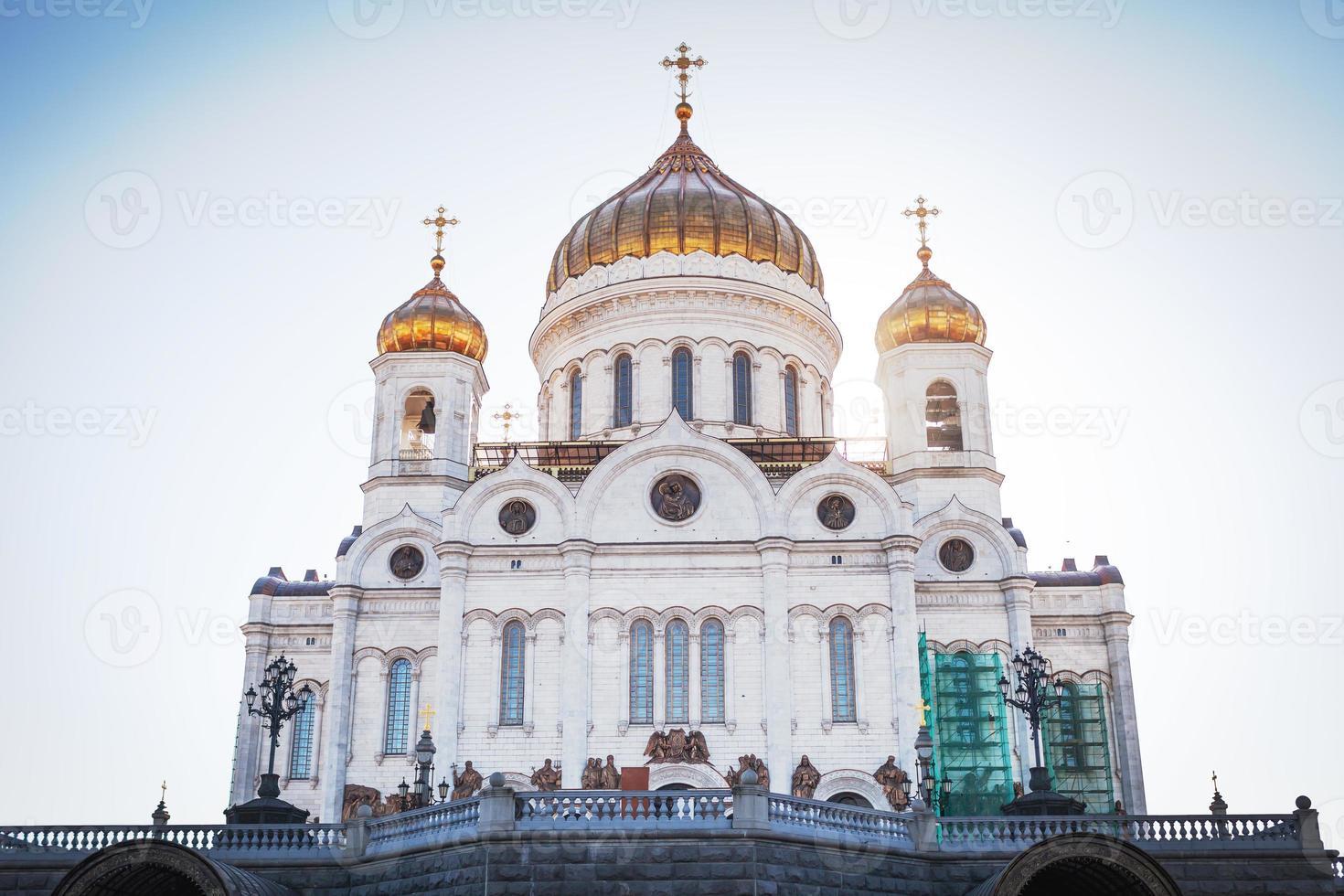 de grootheid van de kathedraal van Christus de Verlosser foto