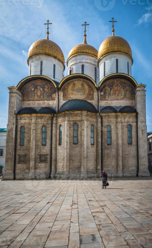 de kathedraal van de slaapzaal in het kremlin van moskou, rusland foto