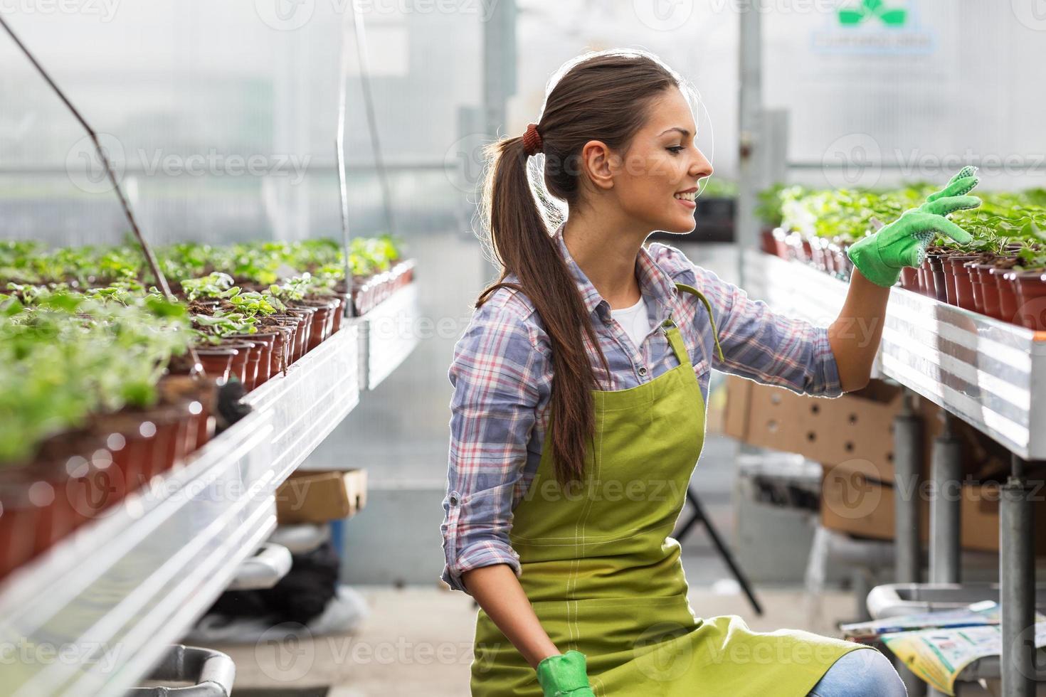 jonge vrouwelijke botanicus foto