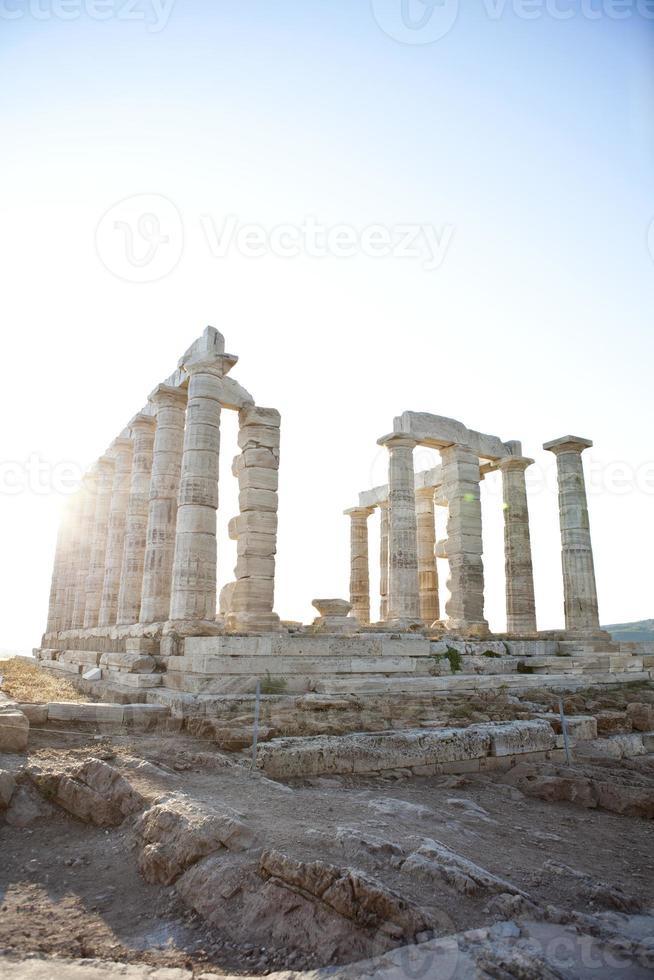 tempel van poseidon in sounio Athene foto