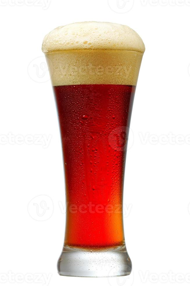 glas donker bier foto