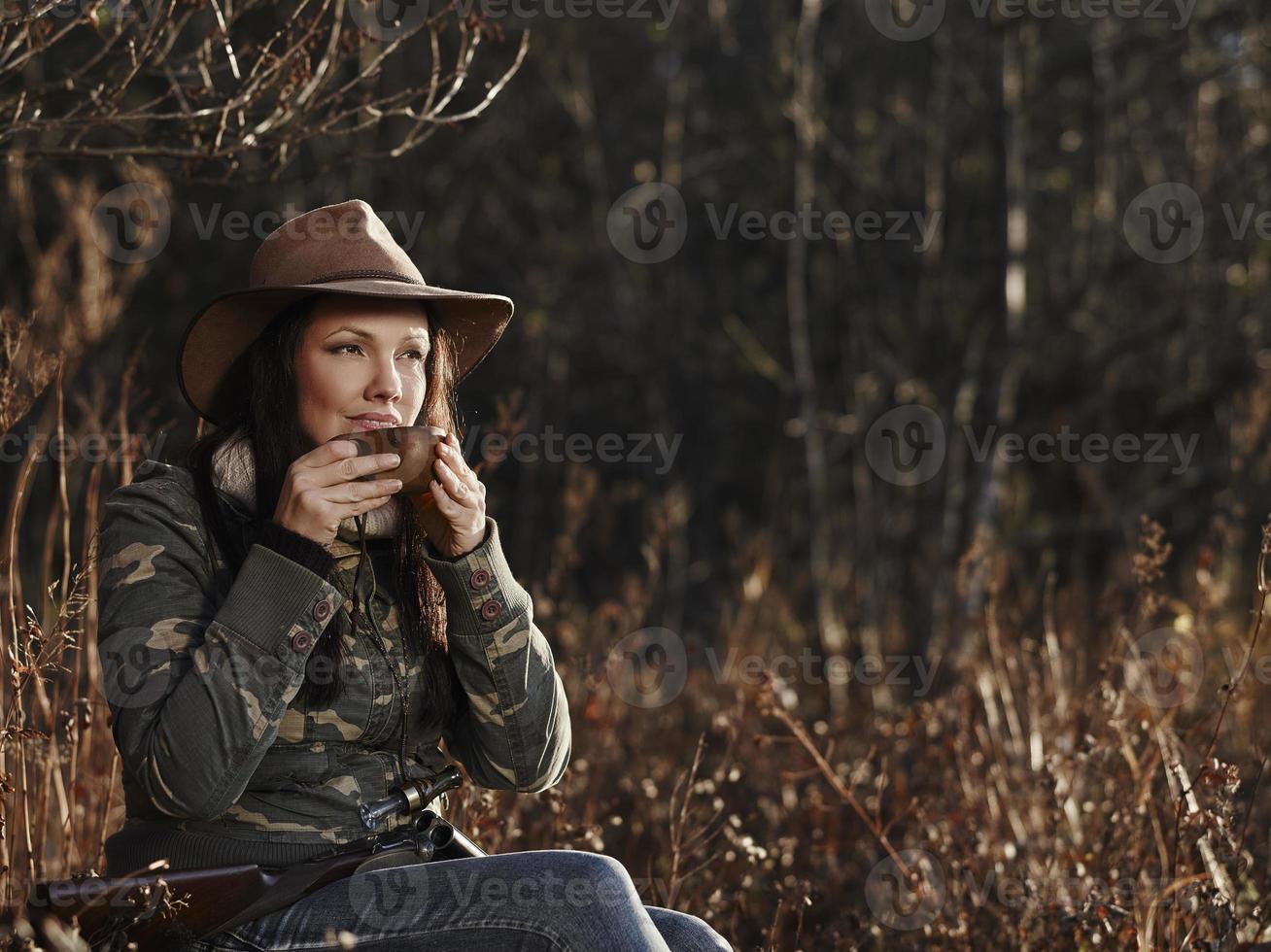 vrouwelijke eendenjager foto