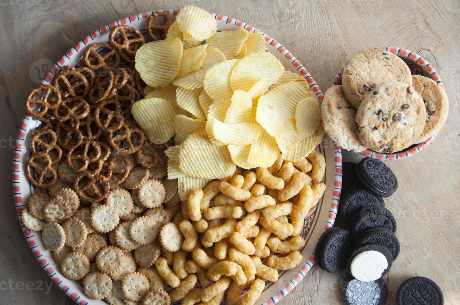 zoute snacks foto