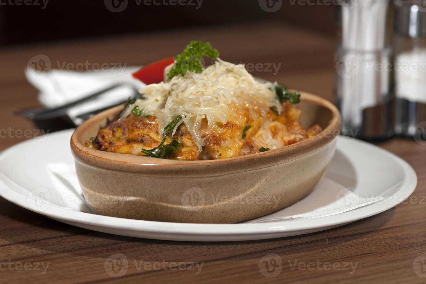 lasagne met rucola foto