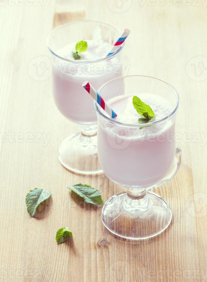 milkshake op tafel foto