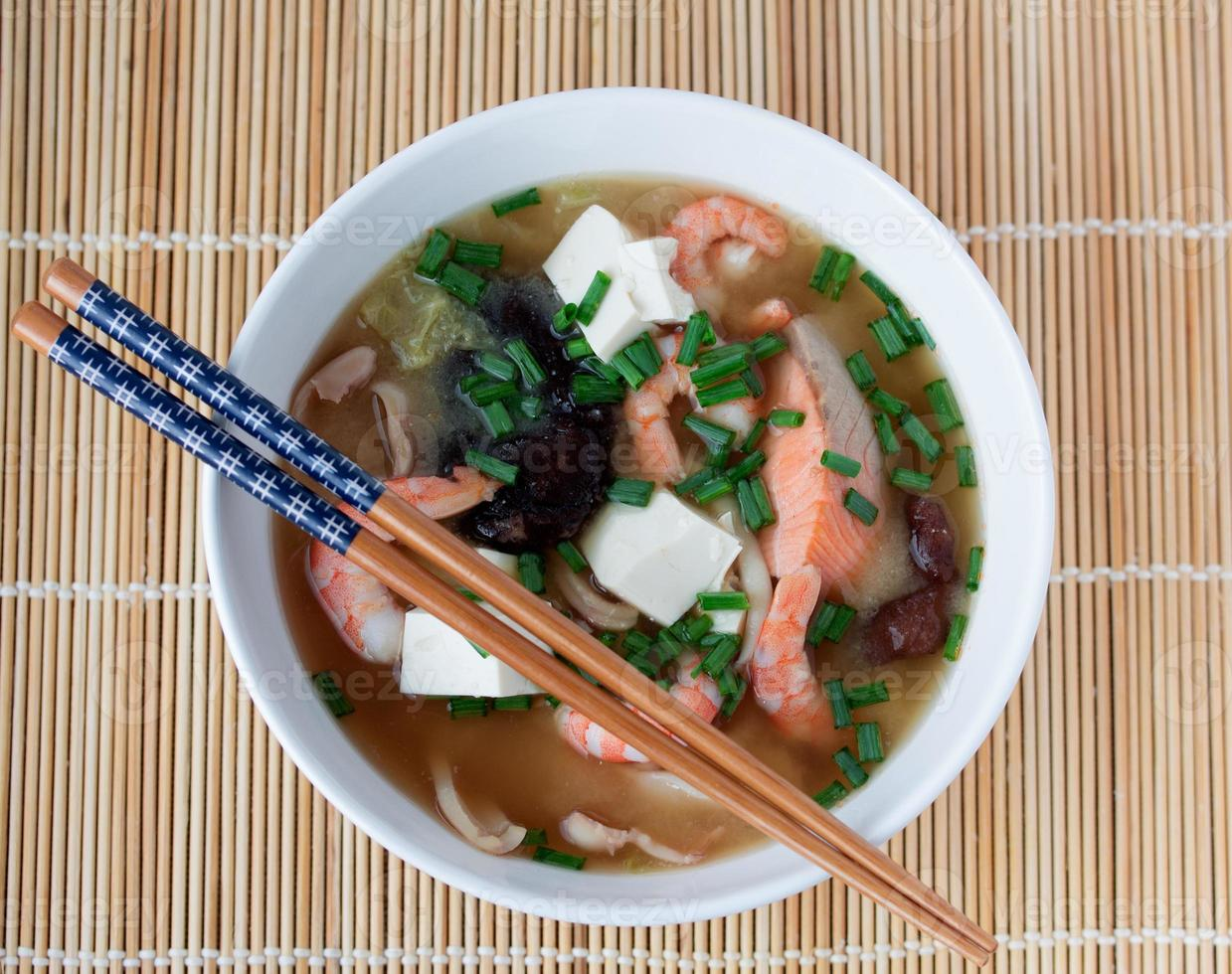 Japanse hotpot soep yosenabe foto