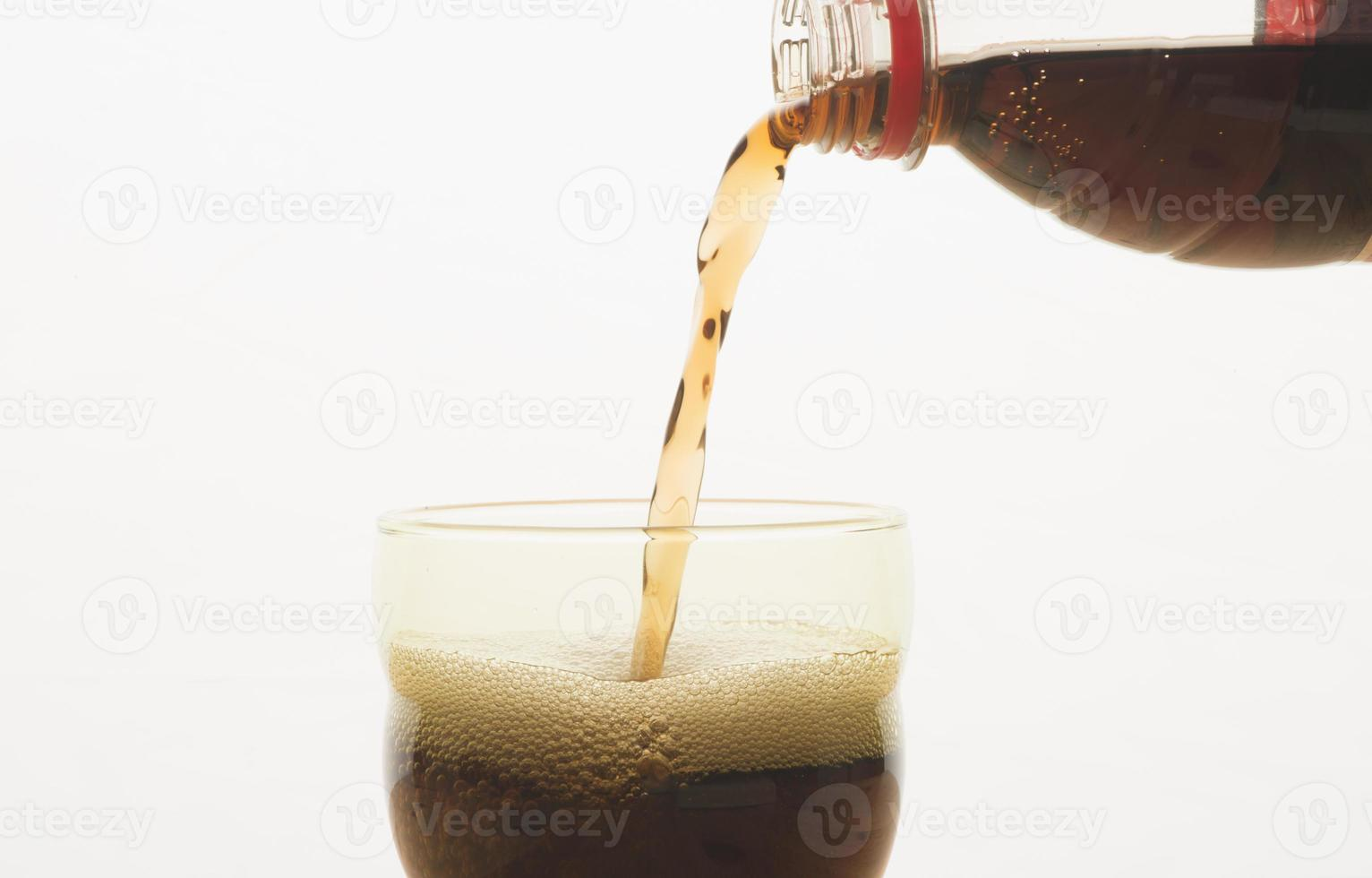 frisdrank in een glas foto