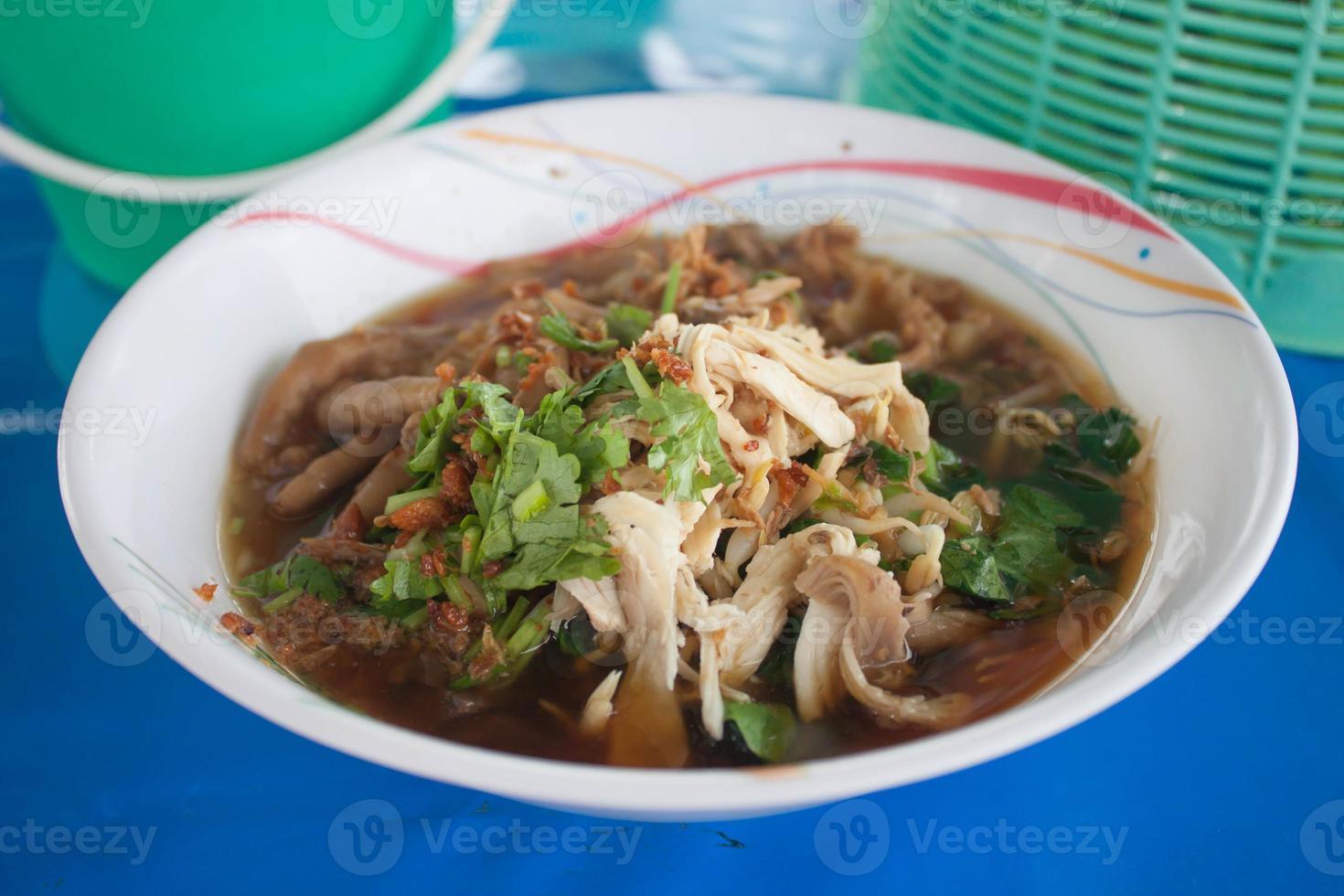 noodle eten in Thailand foto