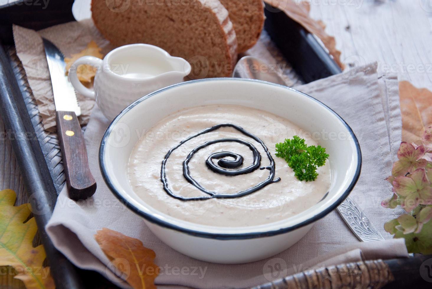 herfst romige soep foto