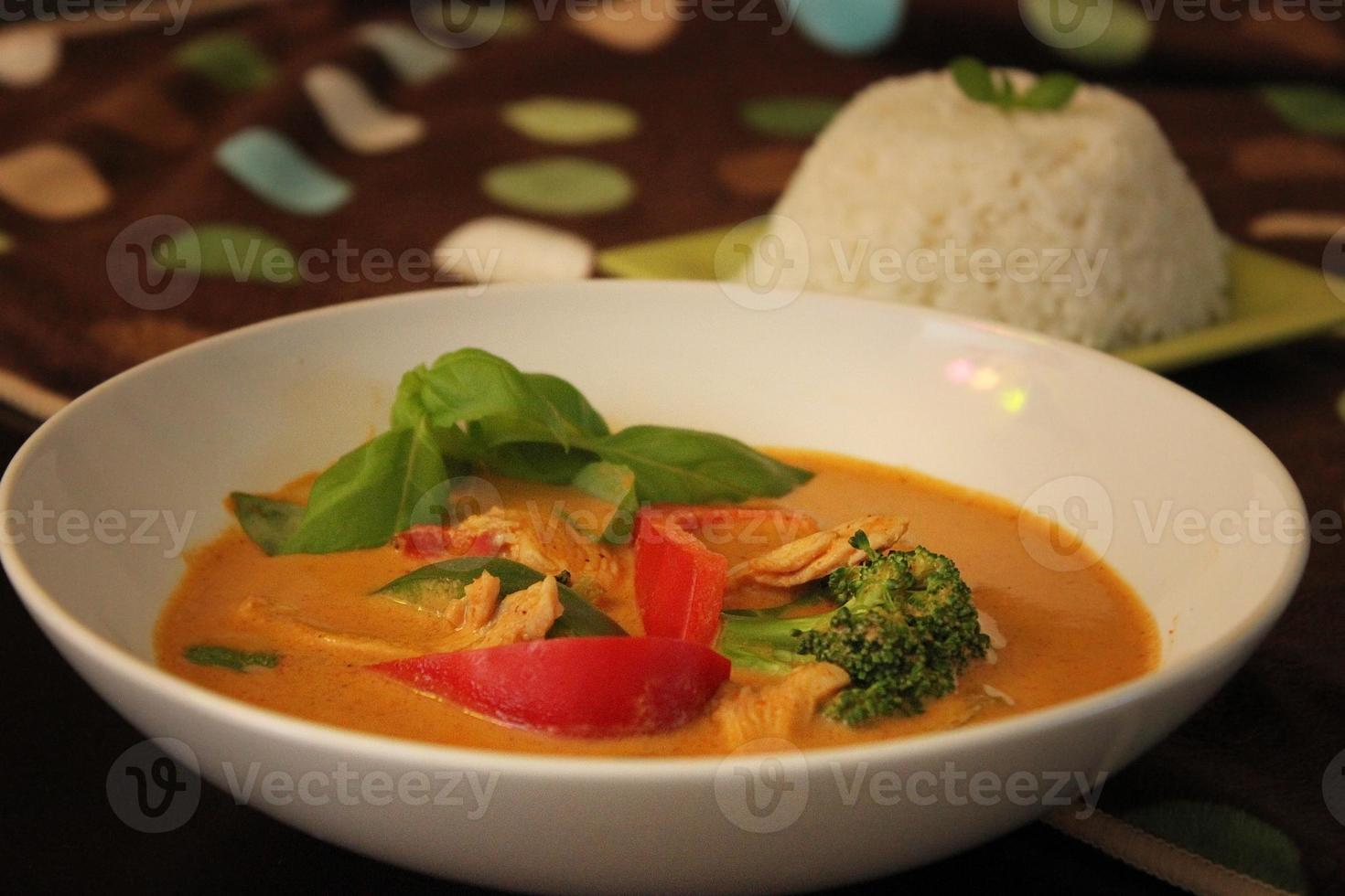 Thaise panang curry foto