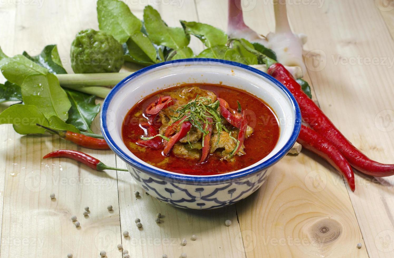 panang curry-Thais eten foto
