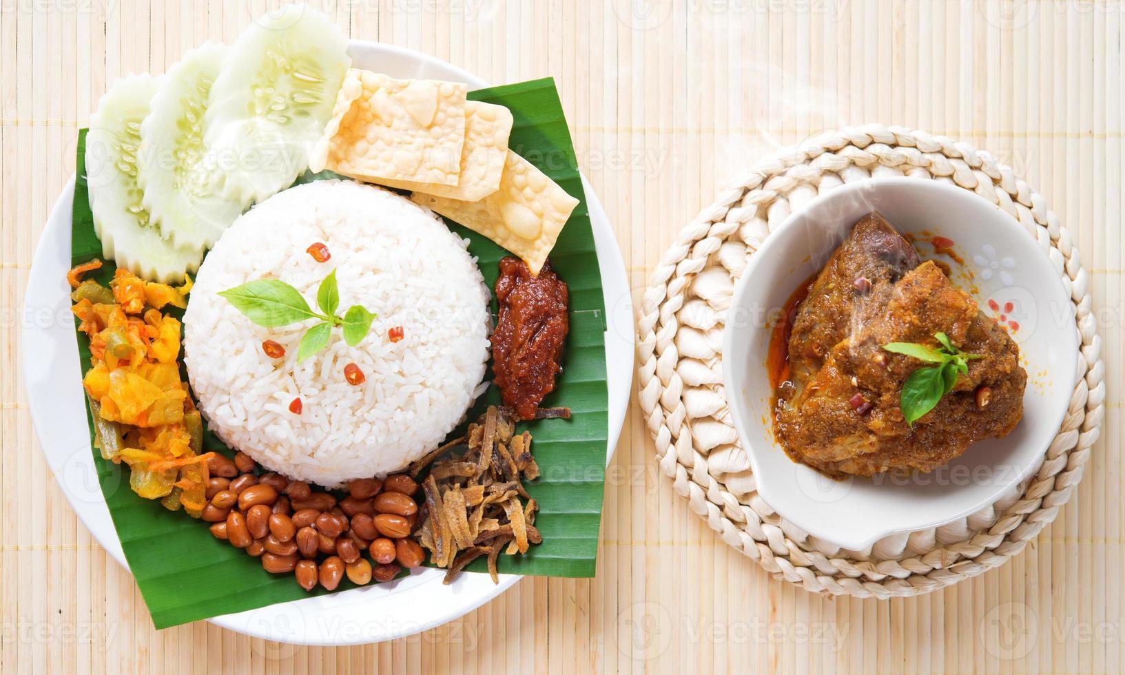 nasi lemak heet en pittig foto