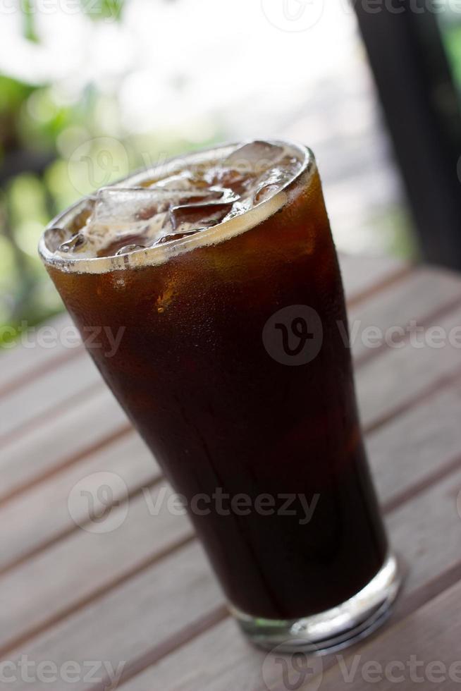 ijszwarte koffie, americano. foto