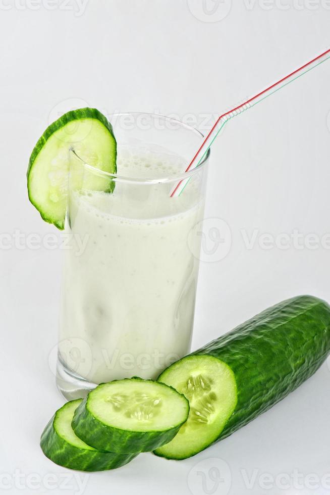 groene komkommer coctail foto