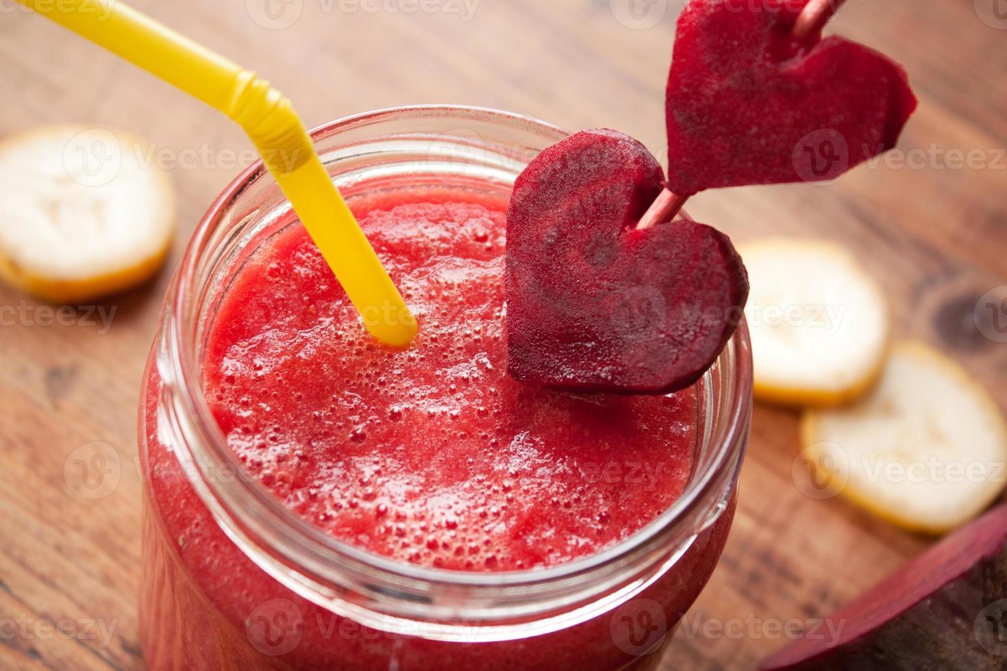 roze smoothie foto