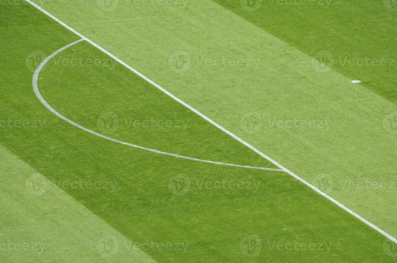 voetbal voetbalveld markeringen foto